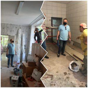 La data de 13 iunie șeful DETS sectorul Ciocana Valeriu Rotaru a inspectat mersul lucrărilor de reparație în instituțiile de învățământ din subordine
